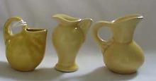 Shawnee Mini urns & pitcher 3 of them