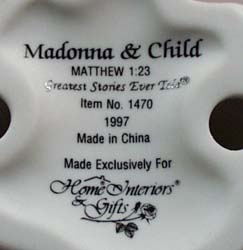 Madonna and Child Figurine
