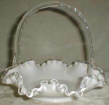 Fenton Silver Crest Handled Basket