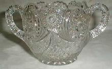 Crystal Open Sugar bowl with a great pattern