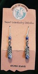 Seneca Eagle Feather Earrings