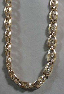 Crystal & Goldtone Necklace