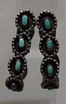 Faux Turquoise Hoop Earrings
