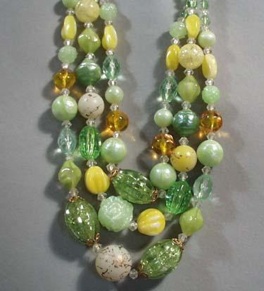 Lisner Triple Strand Choker Necklace