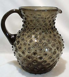 Smoke Color Hobnail Pitcher