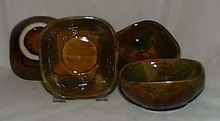 Dryden fruit bowls in yellow/green color, 4