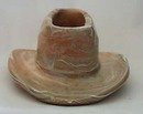 Niloak Pottery cowboy hat/planter