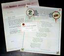 Standard Television Film Co Letter A.E.Lloyd
