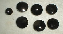 Black Glass Honeycomb pattern buttons