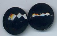 Black Glass Honeycomb pattern buttons