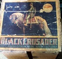 Sunkist Bla Crusader box & label Azusa Citrus