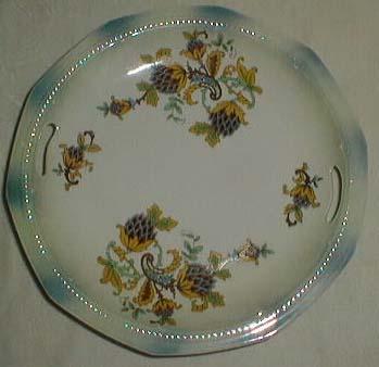 Germany Open Hand Folk Art & Paisley Plate