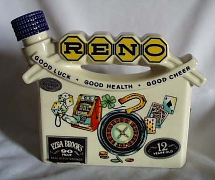 Reno Heritage China Ezra Brooks bottle