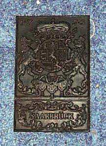 Saarbruck metal plaque, appears to be
