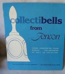 Fenton Dealer Sign for Bells, Reads Collectibells from Fenton,