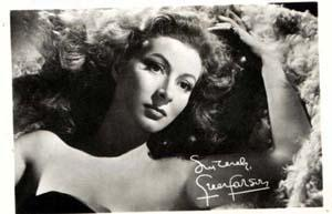 Photo of Greer Garson, studio signed autograph on front