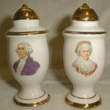 Martha & George Washington Salt & Pepper