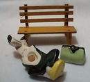 Man Sleeps On Park Bench Salt & Pepper Set