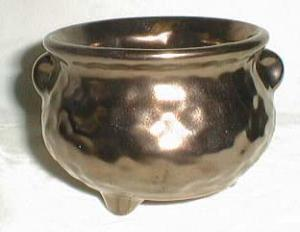Copper luster pottery planter , wonderful pot