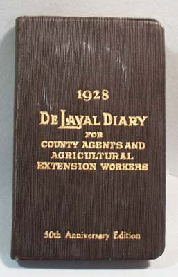 1928 DeLaval Diary for County Agents