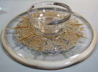 Georges Briard Silver Decorated Cake Plate