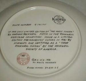 Norman Rockwell Music Maker plate 1981, excellent