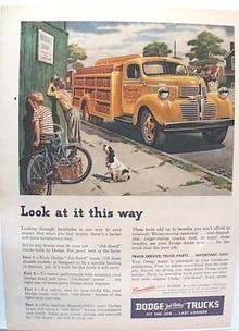 RARE Pepsi Ad Dodge Truck 1947