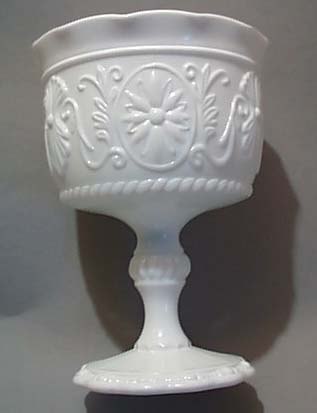 Sandwich Glass Compote In Milk Glass