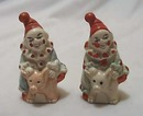 Clowns ride pigs ceramic s & p shakers Old!