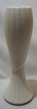 Brush Drape Vase Milk White Glaze