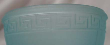 Blue Satin Glass Bowl with Lid