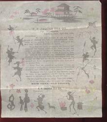F F Jaques Tea Co paper 1899, stationary