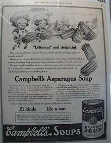 1918 Campbells Soup Asparagus Ad