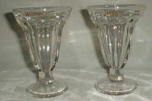 Hersheys Soda Fountain glasses