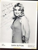 Sara Sutton Picture Real Autograph