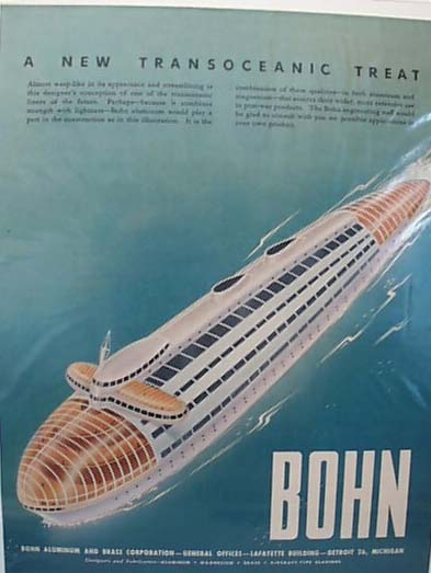 Bohn Futuristic Design inTransoceanic 1946 Ad