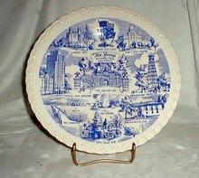 Vernon Kilns Souvenir plate Hot springs