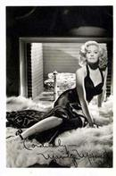 Photo of Marilyn Maxewell, autograph states: