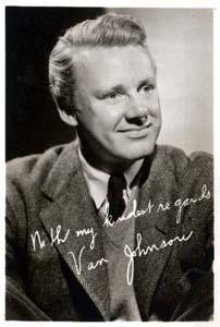 Photo of Van Johnson,reads: With my kindest regards Van Johnson
