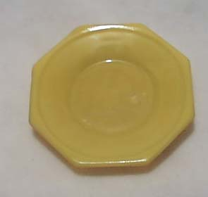 Yellow Pr  of Childs Dinner Plates Akro Agate