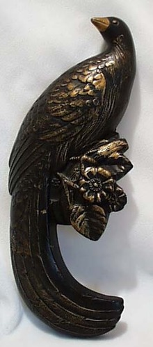 Black & Gold Bird of Paradise 1958 Plaster