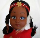 Indian vinyl, jointed doll