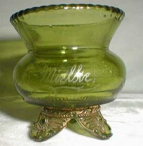US Glass, Colorado Toothpick in emerald green