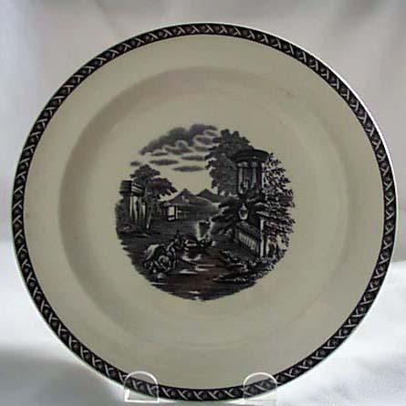 Wedgwood Eturia Greek scene black/white plate