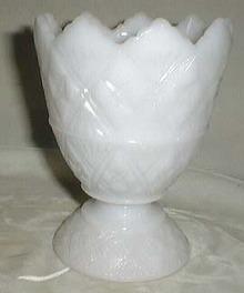 E.O. Brody Co. star vase in white milk glass