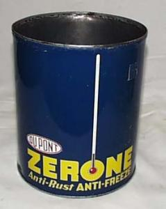 Zerone Antifreeze Can  excellent condition