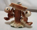 Ceramic Squirrels Hang On Tree Stump S & P