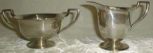 T&T #46 Creamer & Sugar, silverplated