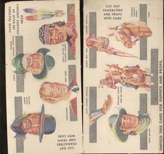 Finger puppets OLD Straight Arrow, Steve Adam