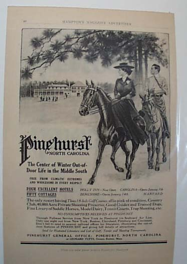 Pinehurst North Carolina  Resort Ad 1911